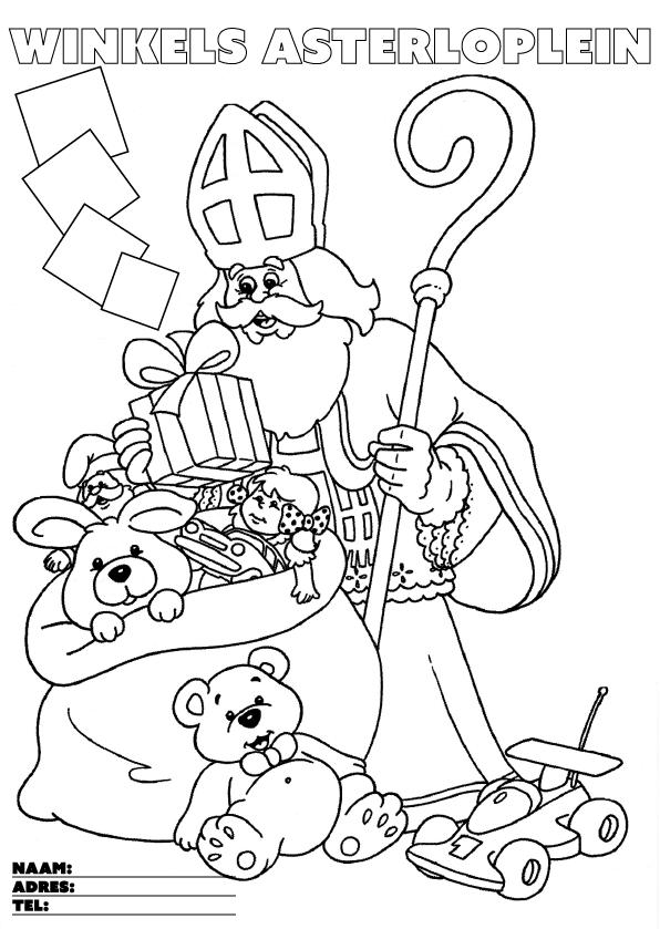 Kleurplaat Sinterklaas Kleurplaten Sint.Sint Kleuractie En Knutselkamer 2016 Winkelgebied Hart Van